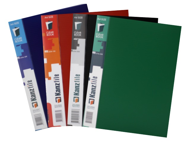 Папка с файлами  30ф А4 цветная Kanzfile 07М-30К