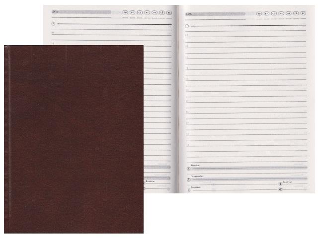 Ежедневник А5 бумвинил 136л коричневый Prof Press 136БВ-5297