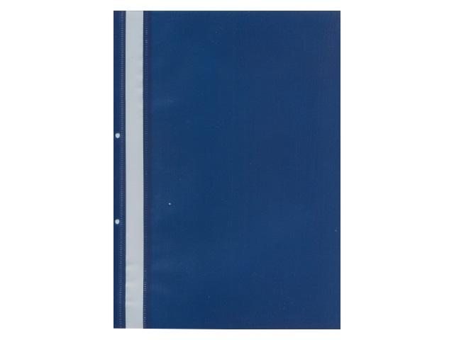 Скоросшиватель А4 с перфорацией синий матовый Kanzfile ПС-220