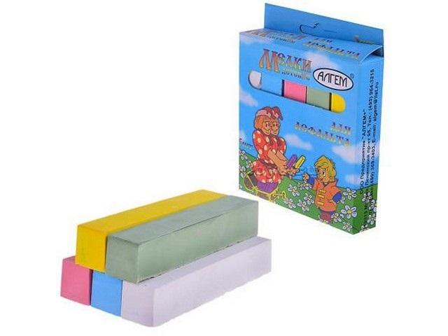 Мел  5 цветов квадратный для асфальта Алгем НМЦА-5
