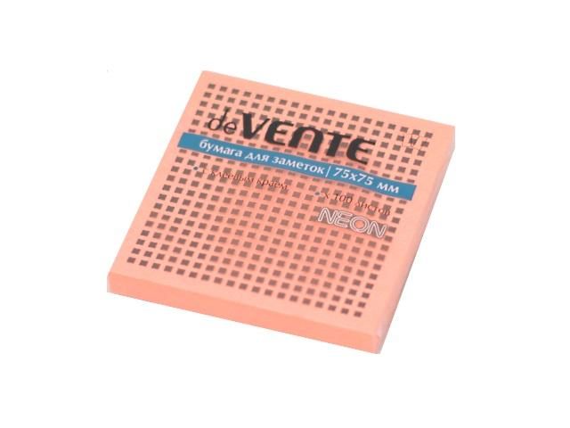 Стикер 75* 75мм 100л неон малиновый DeVente 2010331