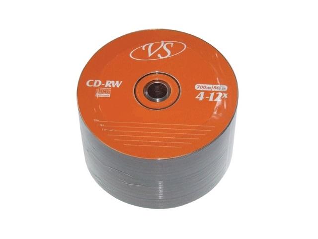 Диск CD-RW VS Bulk 50шт 700Mb 4-12х