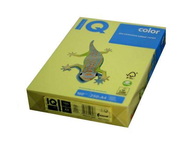 Бумага А4 160 г/м2 250 л. IQ Color интенсив лимонно-желтый ZG34