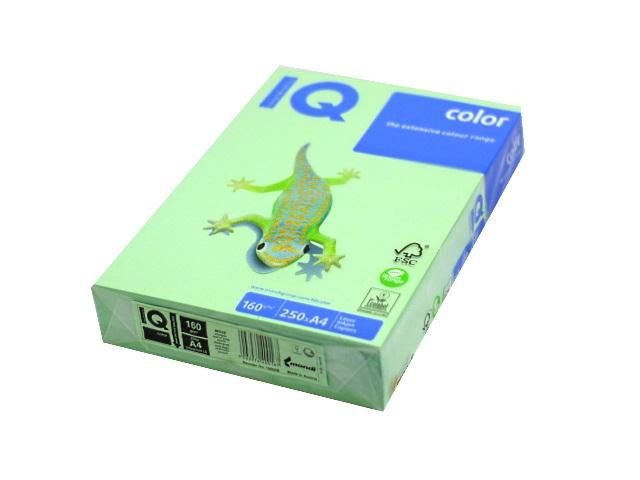 Бумага А4 160 г/м2 250 л. IQ Color пастель зелёный MG28 65168