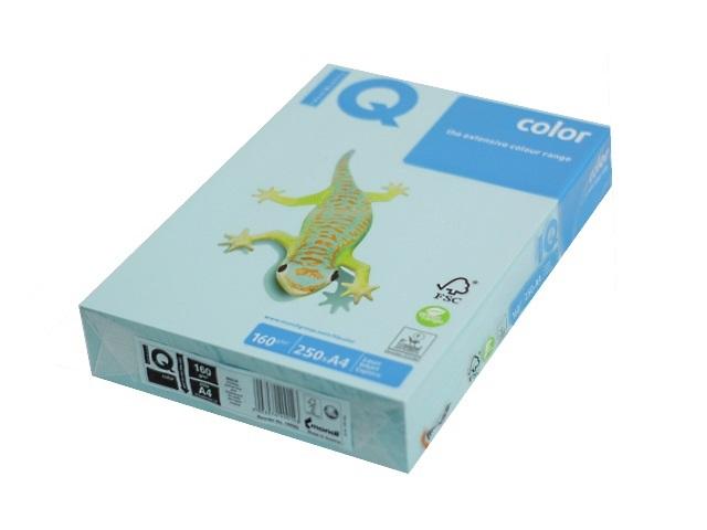 Бумага А4 160 г/м2 250 л. IQ Color пастель голубой MB30