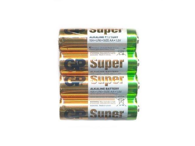 Батарейка пальчиковая LR6 GP 1.5V Super щелочная