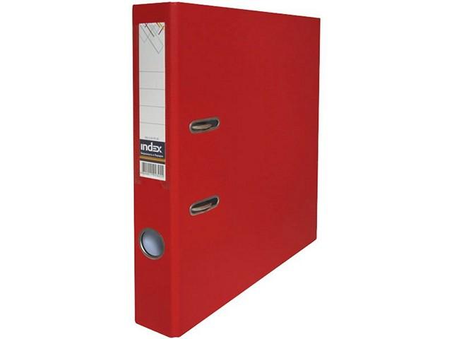 Регистратор  А4/50 Index красный с металлической окантовкой 5/50 PP NEW RD