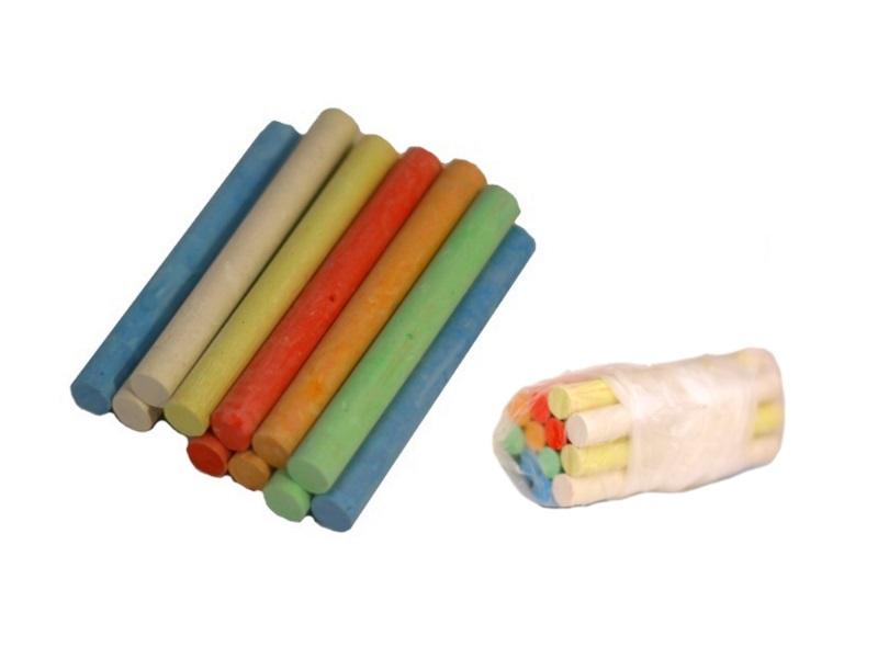 Мел 12 цветов круглый в пакете SAT С-12