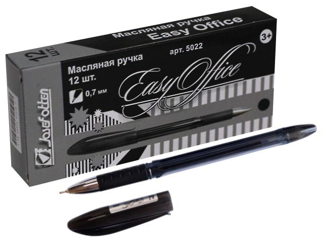 Ручка масляная J.Otten Easy Office черная 0.7мм 5022