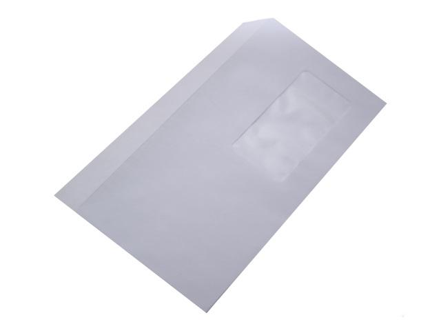 Конверт DL СК (стрип) 11*22 см белый с отрывной лентой и окном Эмика 2000