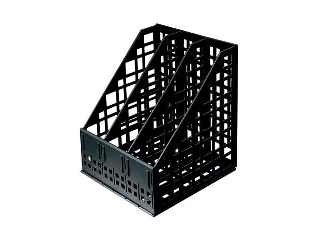 Лоток вертикальный   3 отделения сборный черный ЛТ81