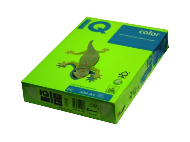 Бумага  А4  80 г/м2 500 л. IQ неон зелёный Neogn 155898