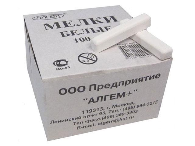 Мел белый 100шт Алгем МШБ-100