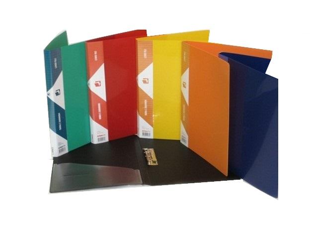 Папка с зажимом и карманом А4 цветная 0.7мм Kanzfile 07Z-KL