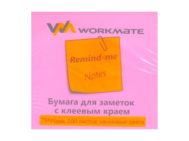 Стикер 75* 75мм 100л неон пурпурный WM 003001311