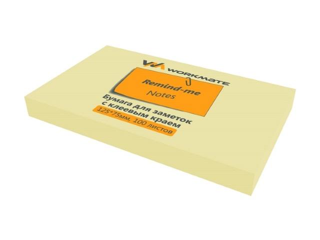 Стикер 75*125мм 100л желтый WM 003000708