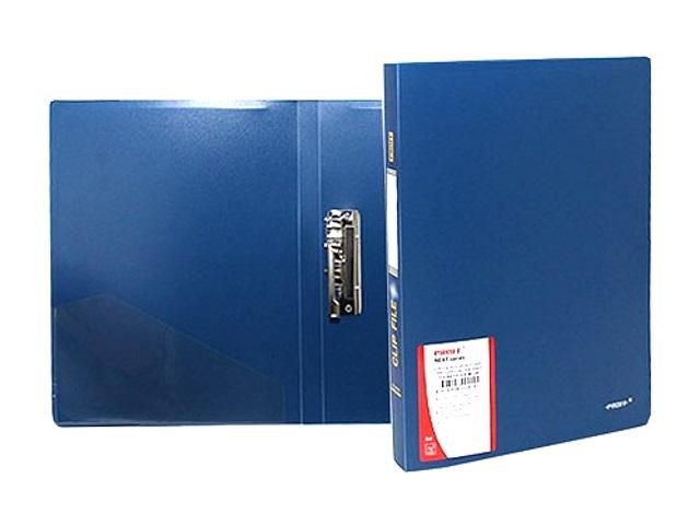 Папка с зажимом и карманом, А4, синяя, 0.6 мм, Proff Next