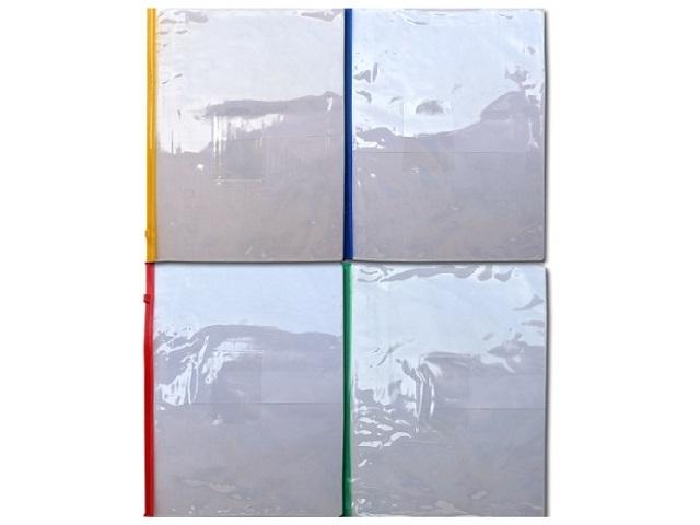 Папка на бегунке А4 с карманом прозрачная Kanzfile ПМ 04