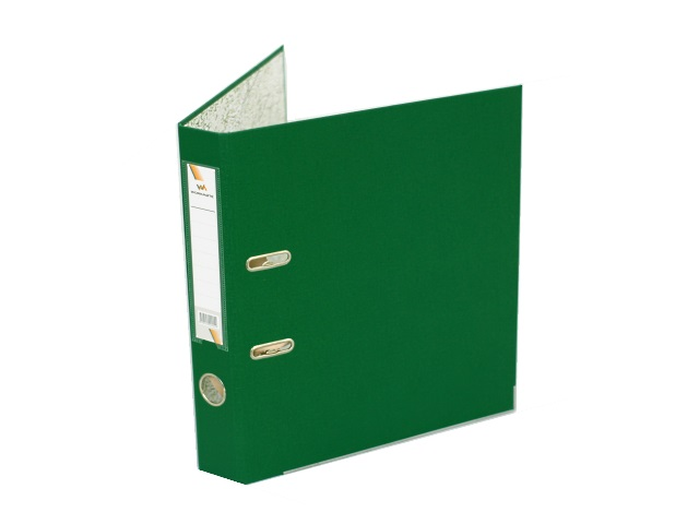 Регистратор  А4/50 WM зеленый с металлической окантовкой 059000904