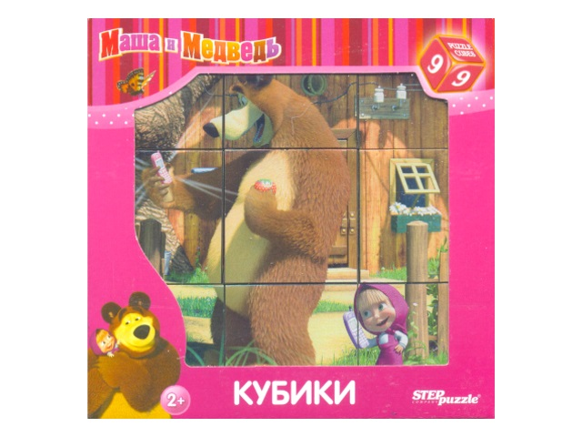 Кубики  9 шт. Маша и Медведь 87133