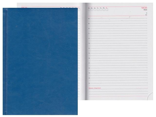 Ежедневник А5 кожзам 160л Виладж синий Collezione 160Е-8756