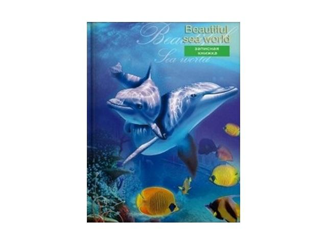 Записная книжка А7 тв/переплёт  64л Мир дельфинов Prof Press 64-2427