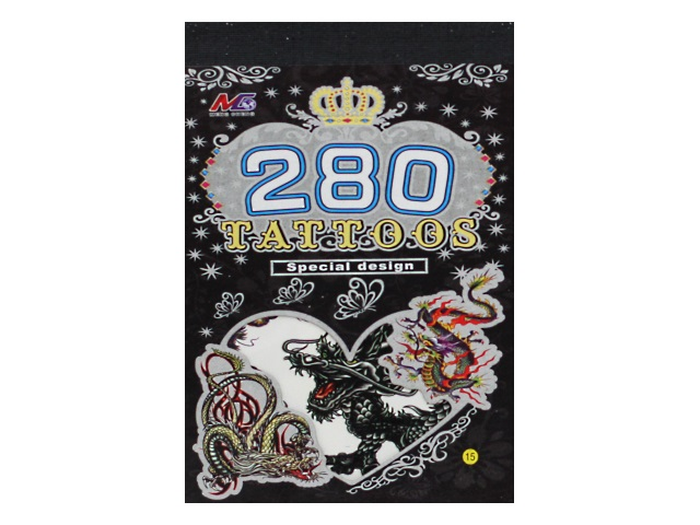 Наклейки тату 280 Драконы 201215-1