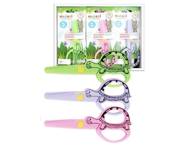 Ножницы детские 12 см Mazari пластиковые ручки M-5626