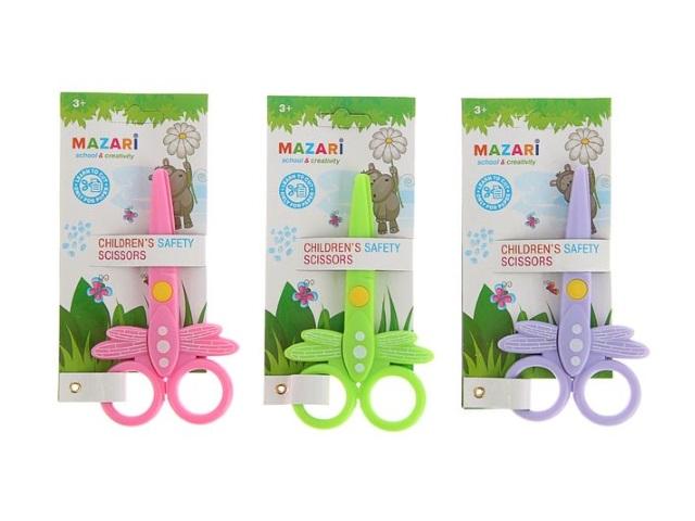 Ножницы детские 12 см Mazari пластиковые ручки M-5627