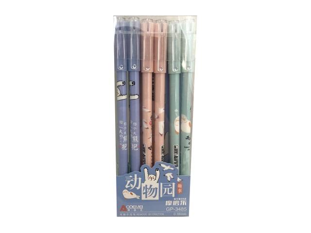 Ручка пиши-стирай Basir Зоопарк гелевая синяя 0.38мм GP-3485D