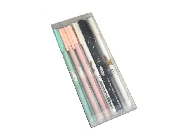 Ручка пиши-стирай Basir Little Rabbit гелевая синяя 0.5мм 925A
