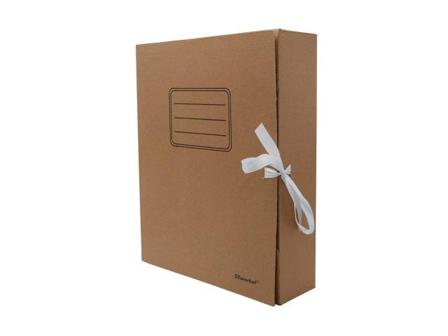Папка архивная картон на завязках А4  7.5см Silwerhof крафт 1373468
