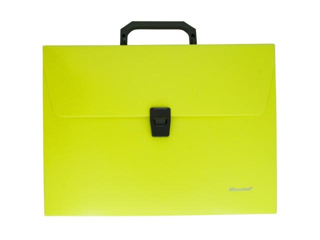 Портфель А4 пластик Silwerhof 1 отделение желтый неон 322715-02