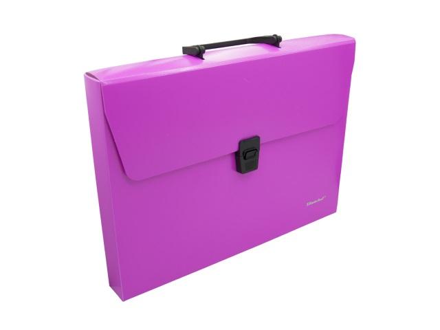 Портфель А4 пластик Silwerhof 1 отделение розовый неон 322715-03