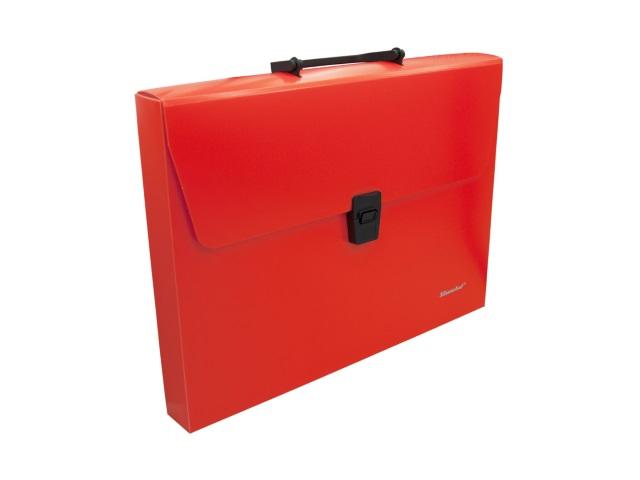 Портфель А4 пластик Silwerhof 1 отделение оранжевый неон 322715-04