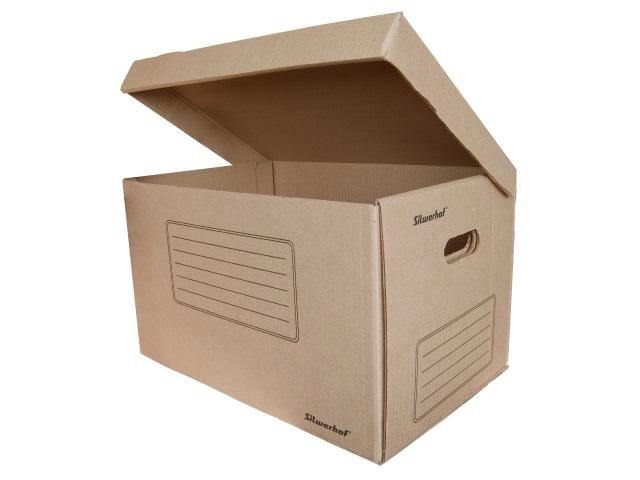 Короб архивный с откидной крышкой картон Silwerhof ОК-18 48*32.5*29.5см коричневый 1373442
