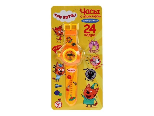 Часы наручные с проекцией Три кота Умка B1266129-R19