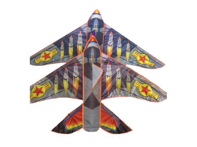 Воздушный змей Рыжий кот Ракета 160*105см 924-10