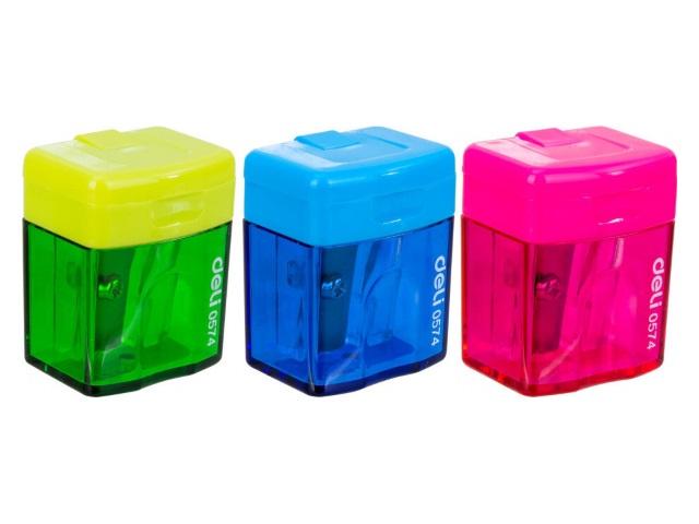 Точилка с контейнером Deli Cubic 0574