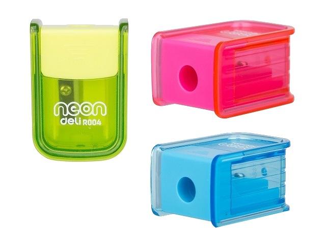 Точилка с контейнером Deli Neon цветная ER00400