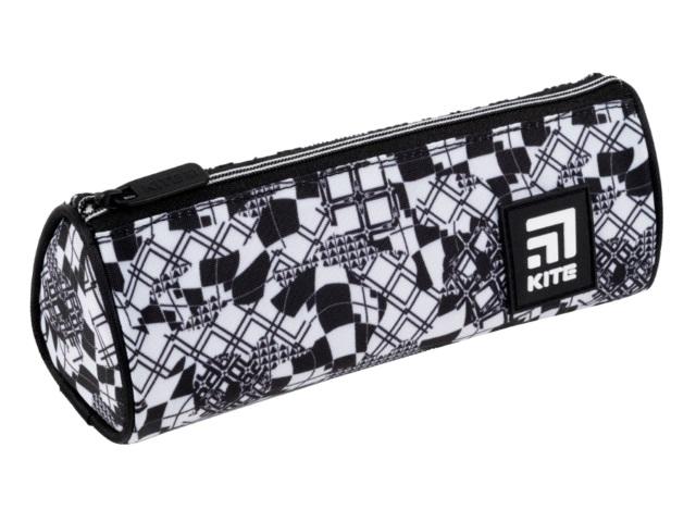 Пенал-тубус текстиль Kite черно-белый K21-667-5