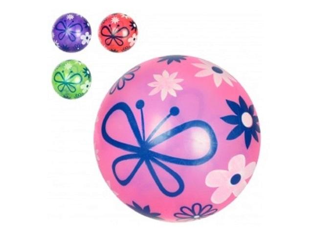 Мяч 22 см прозрачный Цветы Рыжий кот AN01076