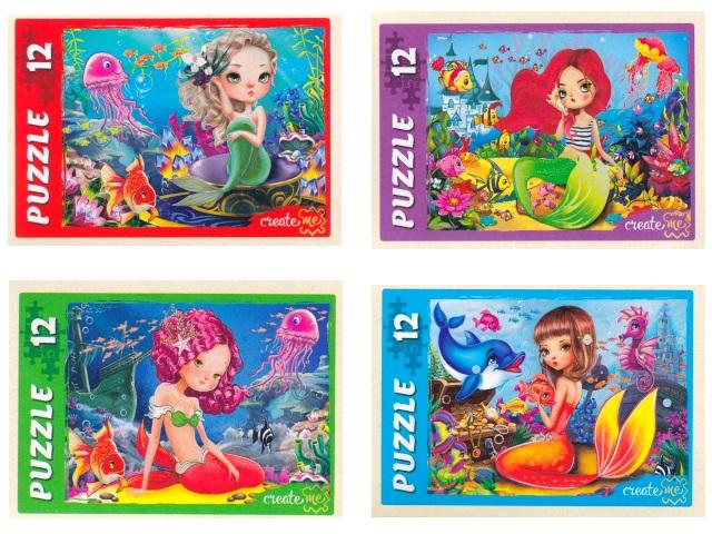 Пазлы Maxi 12 деталей Рыжий кот Волшебные русалки №4 микс П12-5634