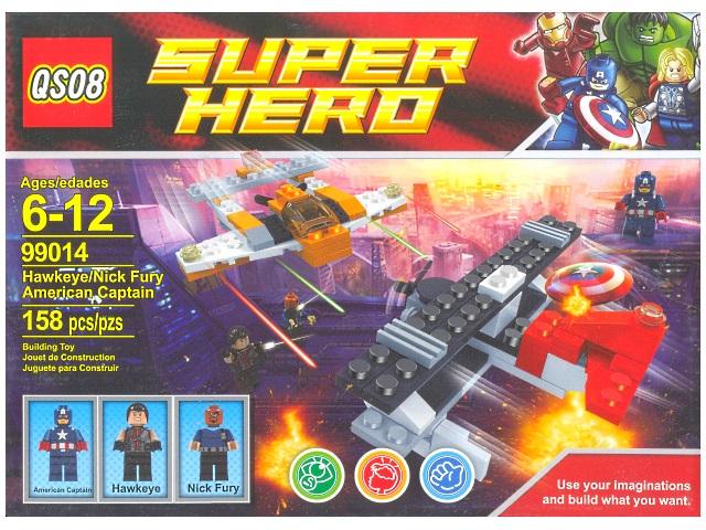 Конструктор 158 деталей, Super Hero, в коробке, QSO8