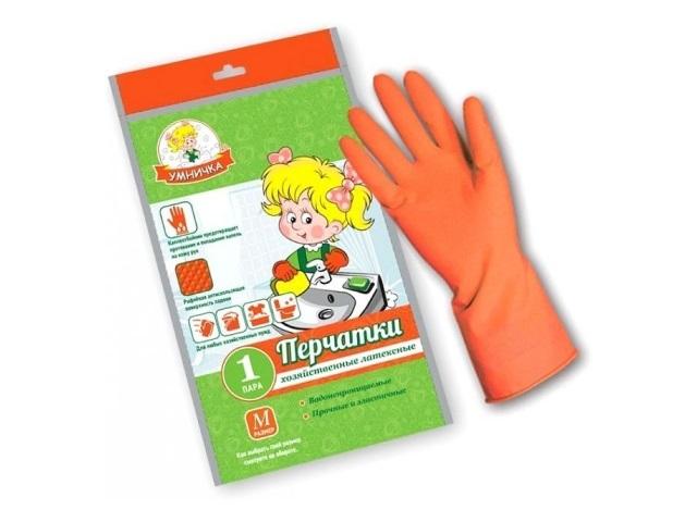 Перчатки резиновые Умничка размер М MPU-M