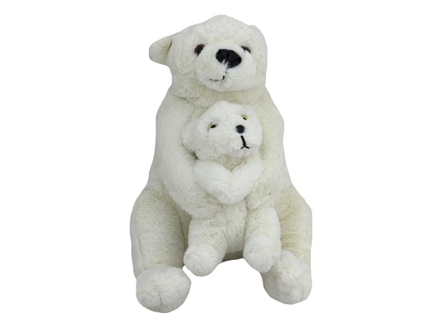 Мягкая игрушка Медведица с медвежонком 30см Крым 03866