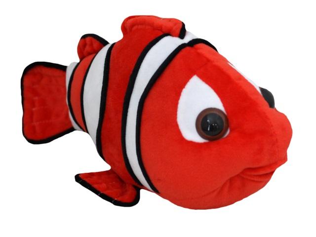 Мягкая игрушка Рыбка Клоун №1 29см красная Крым 02989