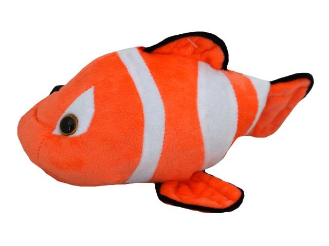 Мягкая игрушка Рыбка Клоун №1А 23см оранжевая Крым 02707