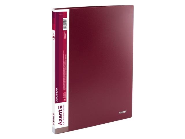 Папка с файлами  10ф А4 Axent 0.8мм бордовая 1010-04-A
