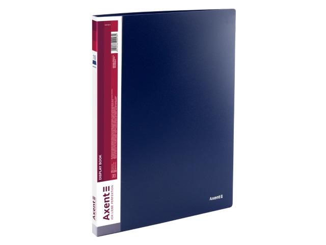 Папка с файлами  10ф А4 Axent 0.8мм синяя 1010-02-A